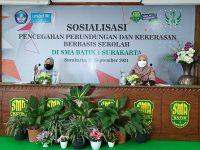 Sosialisasi Pencegahan Perundungan dan Kekerasan Berbasis Sekolah di SMA Batik 1 Surakarta